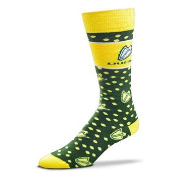 Adult For Bare Feet Oregon Ducks Dot Band Crew Socks