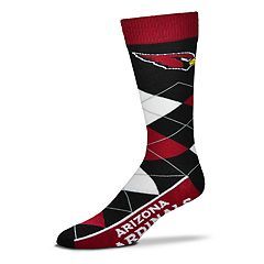 Adult For Bare Feet Arizona Cardinals Argyle Line Up Crew Socks
