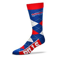Adult For Bare Feet Buffalo Bills Argyle Line Up Crew Socks