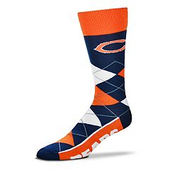 Adult For Bare Feet Chicago Bears Argyle Line Up Crew Socks