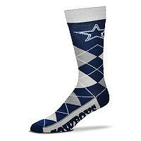 Adult For Bare Feet Dallas Cowboys Argyle Line Up Crew Socks