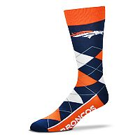 Adult For Bare Feet Denver Broncos Argyle Line Up Crew Socks