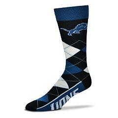 Adult For Bare Feet Detroit Lions Argyle Line Up Crew Socks