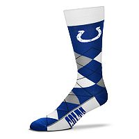 Adult For Bare Feet Indianapolis Colts Argyle Line Up Crew Socks