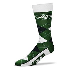 Adult For Bare Feet New York Jets Argyle Line Up Crew Socks