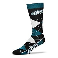 Adult For Bare Feet Philadelphia Eagles Argyle Line Up Crew Socks