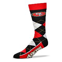 Adult For Bare Feet San Francisco 49ers Argyle Line Up Crew Socks