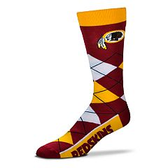 Adult For Bare Feet Washington Redskins Argyle Line Up Crew Socks