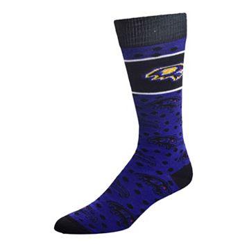 Adult For Bare Feet Baltimore Ravens Dot Band Crew Socks