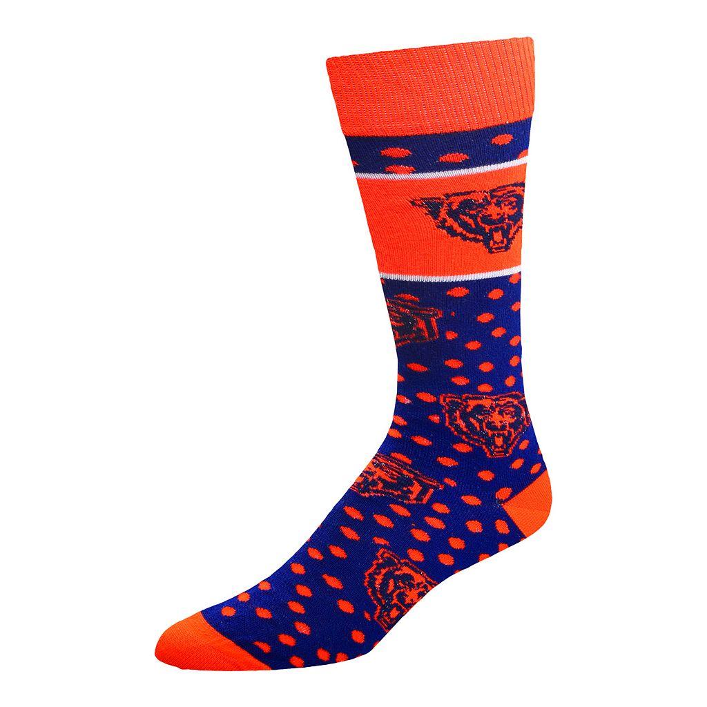 Adult For Bare Feet Chicago Bears Dot Band Crew Socks