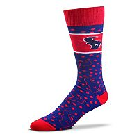 Adult For Bare Feet Houston Texans Dot Band Crew Socks