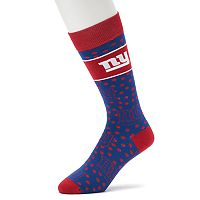 Adult For Bare Feet New York Giants Dot Band Crew Socks