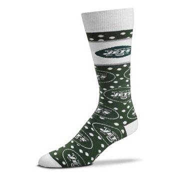 Adult For Bare Feet New York Jets Dot Band Crew Socks