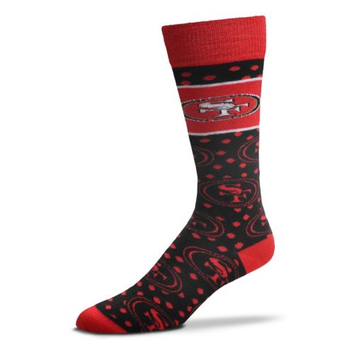 Adult For Bare Feet San Francisco 49ers Dot Band Crew Socks