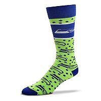 Adult For Bare Feet Seattle Seahawks Dot Band Crew Socks