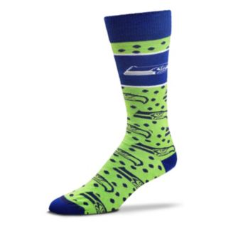 Adult For Bare Feet Seattle Seahawks Dot Band Crew Socks