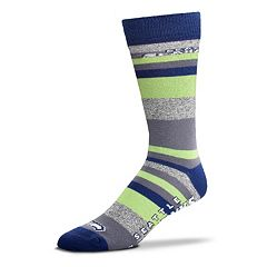 Men's For Bare Feet Seattle Seahawks Mountain Stripe Dress Socks