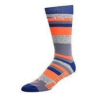 Men's For Bare Feet Chicago Bears Mountain Stripe Dress Socks