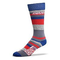 Men's For Bare Feet New York Giants Mountain Stripe Dress Socks