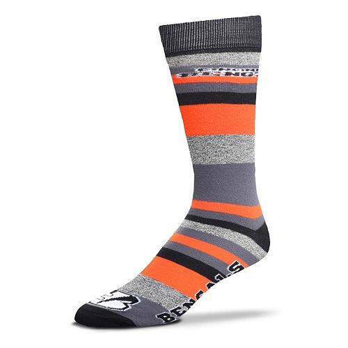 Men's For Bare Feet Cincinnati Bengals Mountain Stripe Dress Socks
