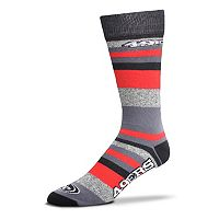 Men's For Bare Feet San Francisco 49ers Mountain Stripe Dress Socks