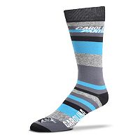 Men's For Bare Feet Carolina Panthers Mountain Stripe Dress Socks