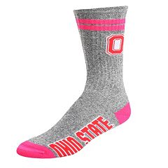 Adult For Bare Feet Ohio State Buckeyes Two Stripe Crew Socks