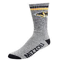 Adult For Bare Feet Missouri Tigers Two Stripe Crew Socks