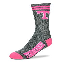 Adult For Bare Feet Tennessee Volunteers Two Stripe Crew Socks