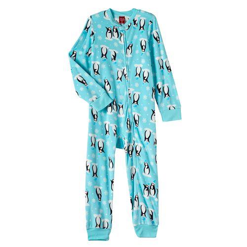 a50000e1e478 Jammies For Your Families Kids Penguin One-Piece Pajamas