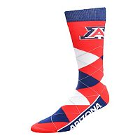 Adult For Bare Feet Arizona Wildcats Argyle Line Up Crew Socks