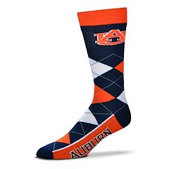 Adult For Bare Feet Auburn Tigers Argyle Line Up Crew Socks