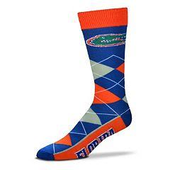 Adult For Bare Feet Florida Gators Argyle Line Up Crew Socks