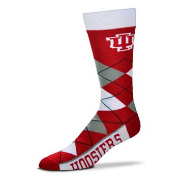 Adult For Bare Feet Indiana Hoosiers Argyle Line Up Crew Socks