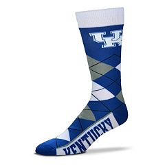 Adult For Bare Feet Kentucky Wildcats Argyle Line Up Crew Socks