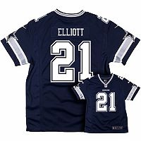 Boys 8-20 Nike Dallas Cowboys Ezekiel Elliot Game NFL Replica Jersey
