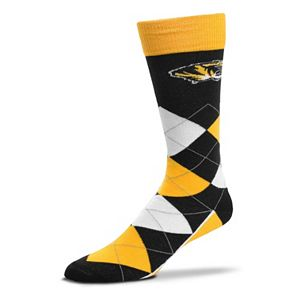 Adult For Bare Feet Missouri Tigers Argyle Line Up Crew Socks