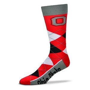 Adult For Bare Feet Ohio State Buckeyes Argyle Line Up Crew Socks