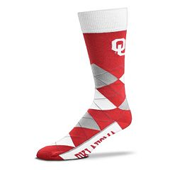 Men's For Bare Feet Oklahoma Sooners Argyle Crew Socks