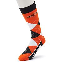 Adult For Bare Feet Oklahoma State Cowboys Argyle Line Up Crew Socks