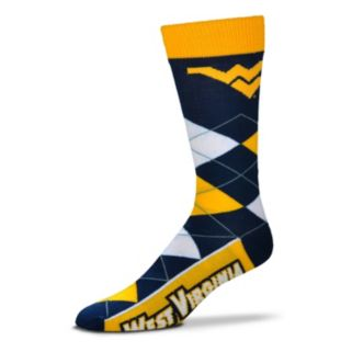 Adult For Bare Feet West Virginia Mountaineers Argyle Line Up Crew Socks