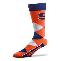 Adult For Bare Feet Syracuse Orange Argyle Line Up Crew Socks