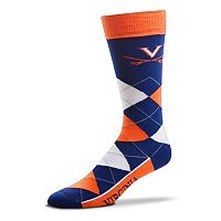 Adult For Bare Feet Virginia Cavaliers Argyle Line Up Crew Socks