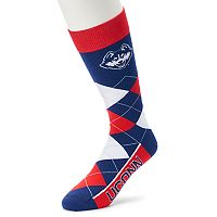 Adult For Bare Feet UConn Huskies Argyle Line Up Crew Socks