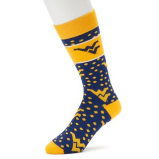 Adult For Bare Feet West Virginia Mountaineers Dot Band Crew Socks