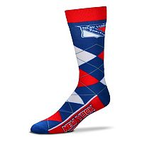 Adult For Bare Feet New York Rangers Argyle Line Up Crew Socks