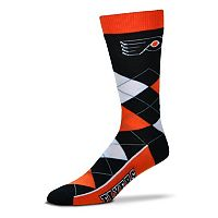 Adult For Bare Feet Philadelphia Flyers Argyle Line Up Crew Socks