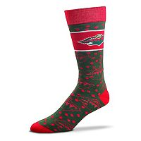 Adult For Bare Feet Minnesota Wild Dot Band Crew Socks