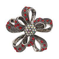 Antiqued Ribbon Flower Pin