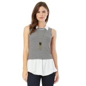 Juniors' IZ Byer California Striped Mock-Layer Top